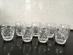 Webb Corbett tumblers/water glasses. Georgian pattern.