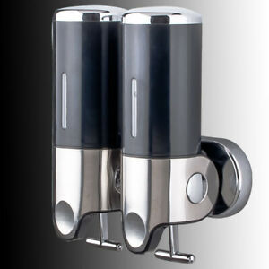 Soap Dispenser Container 1000ml Double Tube Wall Mounted  for Bathroom