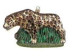 Xgp2-1301leopard Leopard Polish Mouth Blown Glass Christmas Tree Ornament