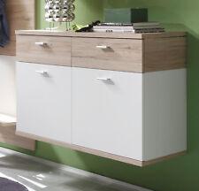 Meuble à chaussures blanc chêne clair couloir Commode suspendre armoire 90 cm