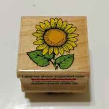 Hero Art Wood Rubber Stamp A782 Small Sunflower 1x1 Inch