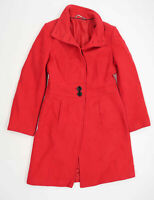 Laura Ashley Womens Size 10 Wool Blend Red Midweight Peacoat