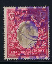 B&D: 1904-07 East Africa & Uganda Scott 29 Kevii 5 rupee used