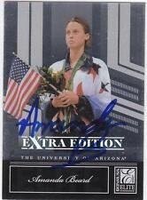 AMANDA BEARD Autographed Signed 2007 Elite card TEAM USA Swimming Olympics COA