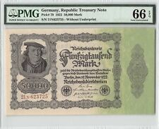 Germany 1922 P-79 PMG Gem UNC 66 EPQ 50,000 Mark