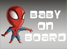 Spiderman Baby on Board / DC Comics / Vinyl Vehicle Graphic Window Sticker Decal