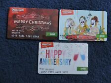 3 RARE IRELAND ONE4ALL GIFT CARDS .USED. NO VALUE. COLLECTORS ITEM.  LOT 5