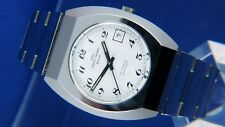 NOS Vintage Jaquet Girard Automatic Watch 1970s Swiss ETA 2783 All Stainless