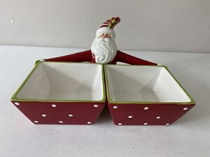NEW Home Interiors Better Homes & Gardens Santa Serving Dishes 3 Piece Set