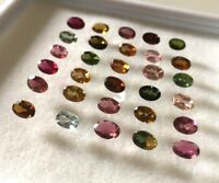 20 Pcs Wholesale Lot 6x4 mm Oval AAA Natural Multi Faceted Tourmaline Calibrated