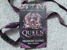 Queen W/ Adam Lambert Park Theater Vegas Sept 2018 Orig Lenticular Credential