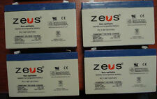 Zues Sealed Lead Acid Battery Rechargeable 6V 7Ah QTY: 4