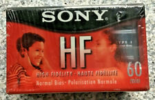 New listing New Sony 3-Pack Hf 60 Cassette Tapes, Sealed