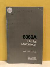 Fluke 632661 8060a Digital Multimeter Instruction Manual