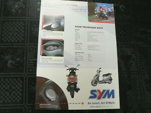 D1081 BROCHURE SYM DD50  SCOOTER MOPED BROMFIETS 2 PAGES FRENCH LANGUAGE