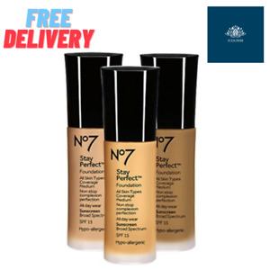 No7 Stay Perfect Foundation SPF15 30ml (NEW) [Choose Shade]