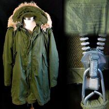 Vintage 1950s Korean War M-1951 M51 Fishtail Parka w/ Liner and Hood L