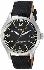 Timex TW2R38500 Waterbury Men's Analog Watch Black Nylon/Leather Strap