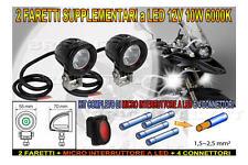 Kit completo 2 Fari Supplementari Moto LED 12V 10W 6000K x GUZZI CALIFORNIA 1400