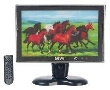 3D TV con telecomando, Casa delle Bambole Miniatura, miniatura TV, Televisione 1; 12 SCALA