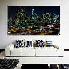 Mural Poster LA Los Angeles City Skyline 48x85 inch (120x213 cm) Adhesive Vinyl