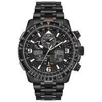 Men's Citizen Eco-Drive Promaster Skyhawk A-T Chronograph Black Bracelet Watch J