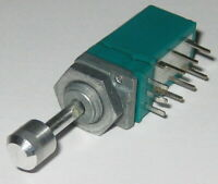 Alps 10k Ohm Linear Taper with Push DPDT Switch - 9.5mm - Panel /PCB Mount - 300