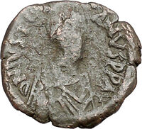 Justinian I 527AD Big  Ancient  Medieval Byzantine Coin  Large M  i41335