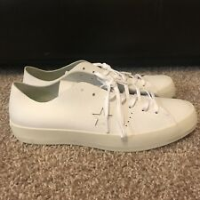 $125 CONVERSE CONS ONE STAR PRIME OX WHITE LEATHER LOW SHOES SZ 11 MENS 154839C