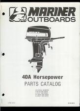 Orig 1980 Mariner 40A HP Outboard Motor/Engine Illustrated Parts List Catalog