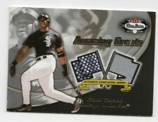 2002  FLEER BOX SCORE HOF FRANK THOMAS AMAZING GREATS GAME WORN JERSEY CARD