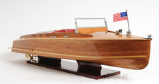 """Chris Craft Runabout Wooden Model 32"""" Power Speed Boat New"""