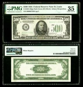 Fr. 2201-H $500 1934 Federal Reserve Note. PMG Choice Very Fine 35