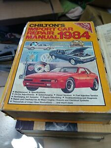 1984 Chiltons Import Car Repair Manual   HB   1977 - 1984
