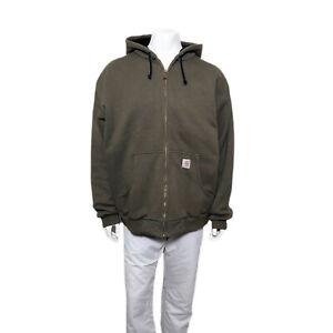 Carhartt - Men's Rutland Thermal Lined Zip Sweatshirt Hoodie Army Green XXL