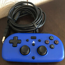Blue Hori PlayStation 4 Wired Gamepad Controller PS4-100U for PS4