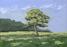 Tree in Landscape ORIGINAL PAINTING Steve Greaves Modern Art Welsh Palette Knife