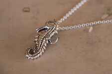 """Silver Seahorse Sterling Necklace New Jewelry Shipping Free Shipping 18"""" Chain"""
