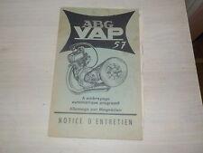 NOTICE ENTRETIEN ABG VAP57.