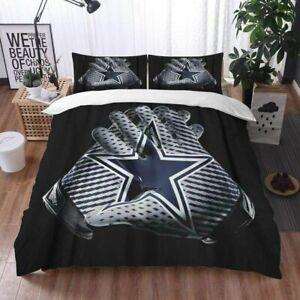 Dallas Cowboys Bedding Set 3PCS Comforter Cover Pillowcases Duvet Covers Gift