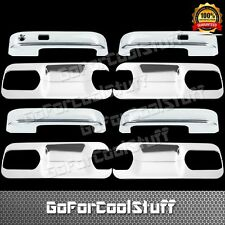 2015-Up Ford F-150 4 Doors Handle W/O Psgkh+ Back Plate Lever Abs Chrome Covers