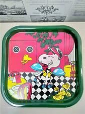 Vintage Kids TV Lap Tray*Snoopy Peanuts 1965*Tin Serving Platter*Cookies*Party