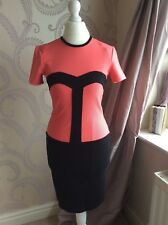 Black and coral pink  dress French connection size 8 brand new rrp 75.00