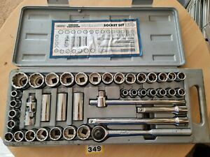 """Draper 18981 Metric and Imperial Socket Set, 1/2"""" Sq. Dr. (40 Piece) Great Condi"""