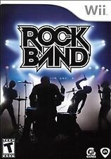 Rock Band (Nintendo Wii, 2008) Complete CIB W/ Manual