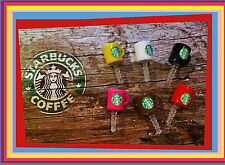 Starbucks Coffee Mug Cup Anti-Dust Plug 3.5mm Cap 6 pcs- iPhone, Android, Ipod