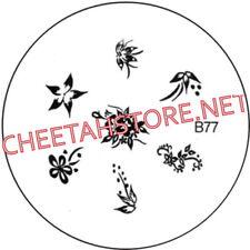 Stamping plaque pochoir B77 pour vernis Konad nail art