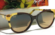 Maui Jim SUNSHINE Sunglasses Root Beer Tokyo POLARIZED Bronze Womens HS725-62*