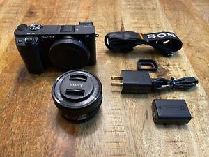 Sony Alpha A6300 24.2MP Mirrorless Digital Camera - Black 16-50mm