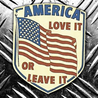 AMERICA LOVE IT OR LEAVE IT car sticker retro  60x70mm